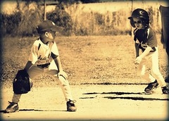 Play Ball! (Bhamgal) Tags: ball nikon baseball g helmet bat run nephew stare glove 365 shoulder runner glance bulldogs ashville littleleague cleats playball coachpitch firstbase d40 msh0611 msh061120 junemshentrysidewaysglance