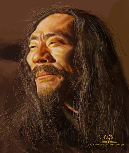 digital caricature of Kitaro