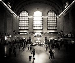 waiting for the call - grand central terminal (pamela ross) Tags: light people blackandwhite usa newyork window america pen person waiting unitedstates olympus grandcentralterminal ep1 17mm mft streetphotographycandidstreetportrait