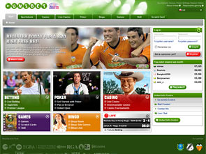 UniBet Sportsbook Home