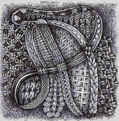Garden Patio (molossus, who says Life Imitates Doodles) Tags: art journal zia tangle earthcare zentangle zendoodle zentangleinspiredart