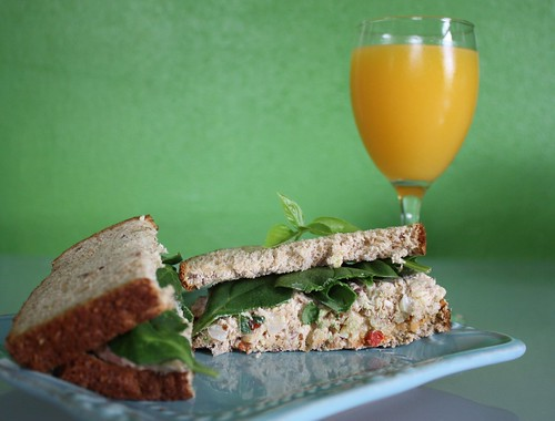 Goji Almond Salmon Sandwich