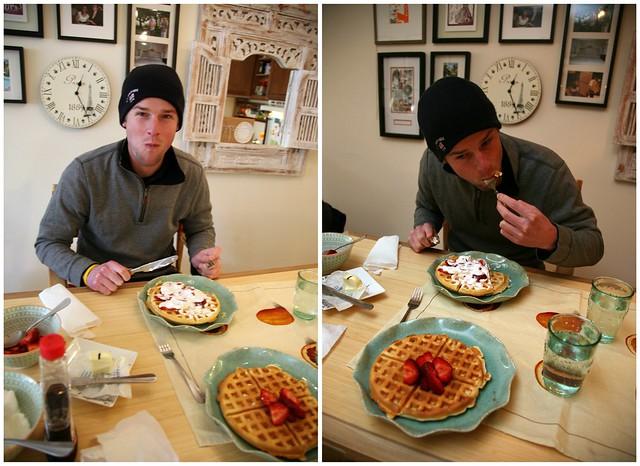 happy breakfast, special waffles