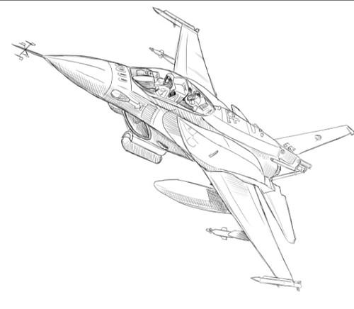 F-16 sketch