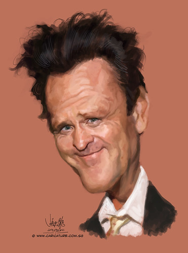digital caricature of Michael Madsen