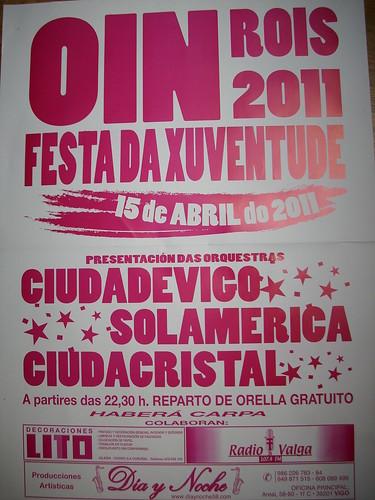 Rois 2011 - Festa da Xuventude en Oin - cartel