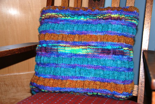 handknit pillow