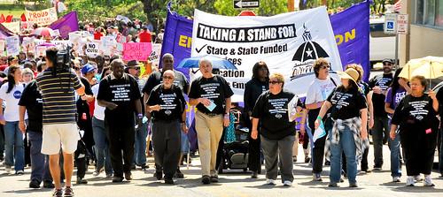 TSEU Lobby Day - Marching