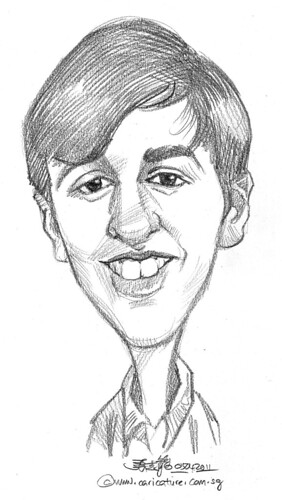caricature in pencil - 13