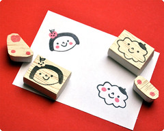 Happy Doodle Land special hand carved rubber stamps