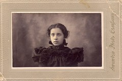 Ina j. Bradley - age 14 in 1897 (sctatepdx) Tags: found victorian vintagedress victoriangirl vintagejewelry victoriandress swantonvermont victorianjewelery victorianyoungwoman swantonphotocompany inajbradley