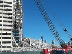 final days (VVVvoy) Tags: chicago green tower skyline ball demolition hancock wrecking cabrini