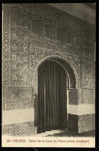 Casa de Mesa a comienzos del siglo XX. Postal de Castañeira y Álvarez