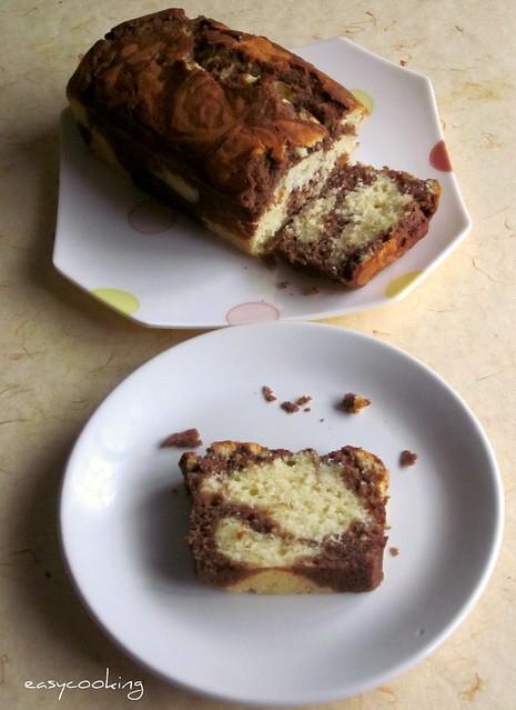 Marble loaf cake 3