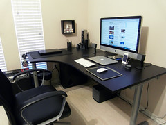 Workspace (Andrew Duong) Tags: windows 6 white ikea apple by mouse imac air magic 4 creative 7 line dell elite labs speakers dre beats bose iphone macbook