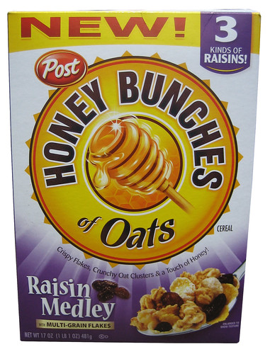 Post Honey Bunches of Oats Raisin Medley