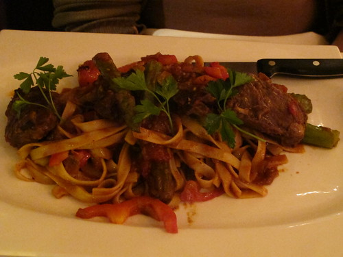 Coriander Beef Short Ribs with Fetticcina Pasta