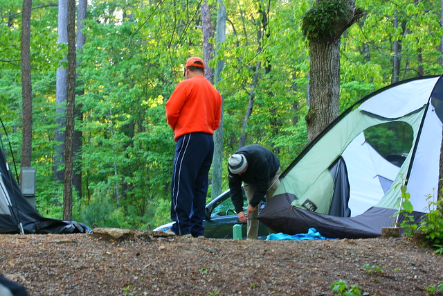 Camping at Oak Mountain