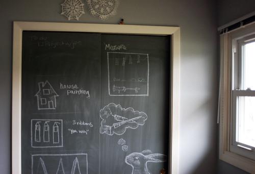 Cassie Marie Diy Chalkboard Paint Closet Doors