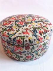 Florentine Bookbinder's paper ceramic trinket jar (Nova+Lorsten) Tags: decoupagegalleryboxes