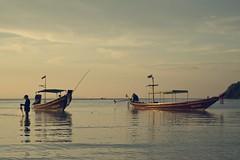 20.4.11 (obo-bobolina) Tags: sea thailand boat april 365 kohphangan fishingboat longtailboat 2011 haadsalad project365