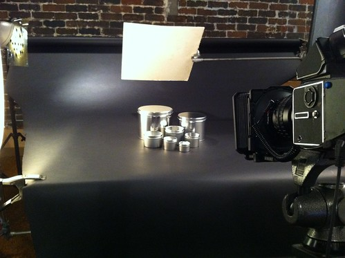 Shooting glamour shot of Tin products