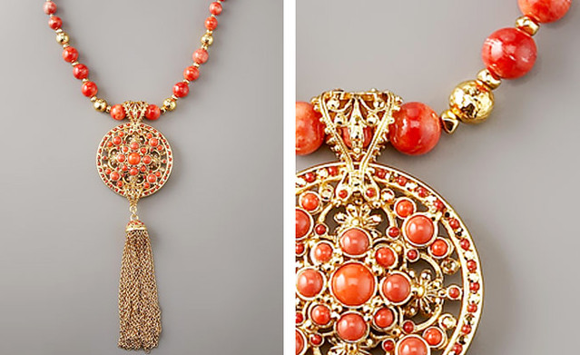 Jose & Maria Barrera Coral Long Pendant Necklace