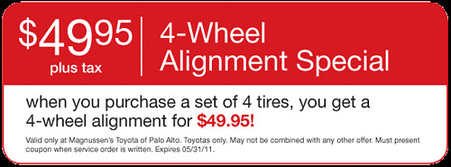 4-Wheel Alignment | Palo Alto Toyota serving San Jose, San Francisco Dealer