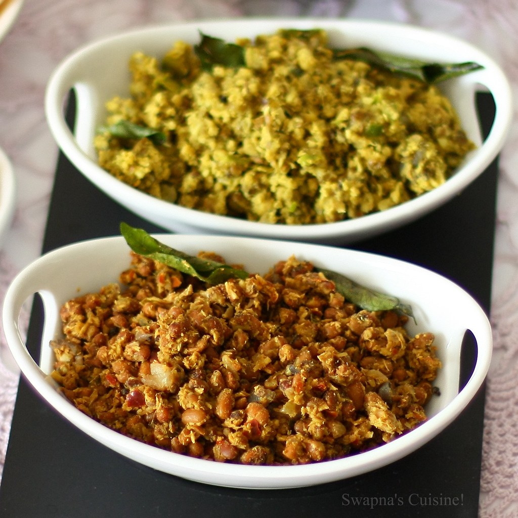 Vanpayar Thoran/ Red Gram stir fried with Coconut