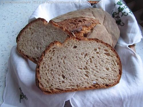 Pain au Levain Trilogie: Weizenmischbrot mit Weizensauerteig & Weizenvollkornmehl