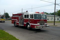 Croswell 4-25 (railnut19) Tags: mi truck fire michigan engine parade rig association sandusky pumper croswell firemans