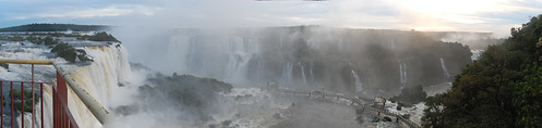Panoramic view from the top of the falls