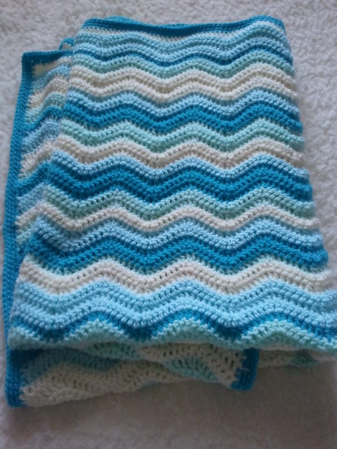 Crochet Patterns Ripple Blanket : CROCHET BABY RIPPLE BLANKET PATTERN ? Patterns