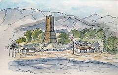 Torre Cabopino Marbella - Raúl León (Bichobolas) Tags: sailor watercolors platinum marbella winsornewton hahnemühle bijoubox raulleon