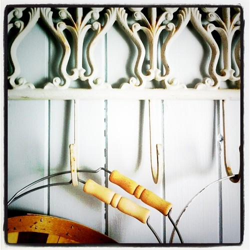 hooks for berry baskets and things