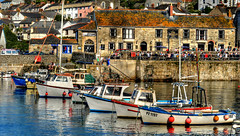 PR11APR25_002 (Paul Raymond Photography) Tags: sea summer holiday water easter boats harbor pub cornwall break harbour sunny tourists views april bankholiday cottages calmsea porthleven harbourinn paulabarrow holidaylet paulraymondphotography