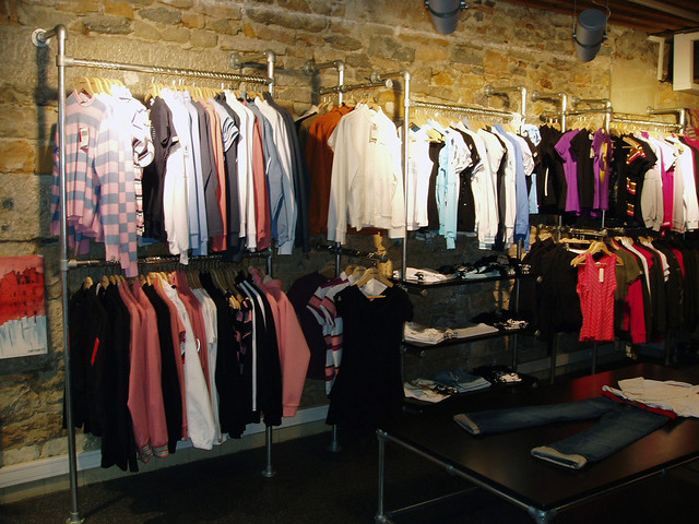 Clothing Racks Made With Kee Klamp Pipe Fittings Image