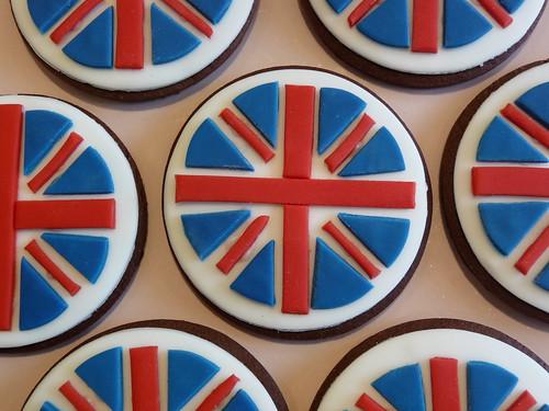 Union Jack Round Biscuits