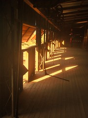 Kinchega woolshed shearer stands (AnnieRivers63) Tags: lake flood outback woolshed menindee kinchega pamamaroo