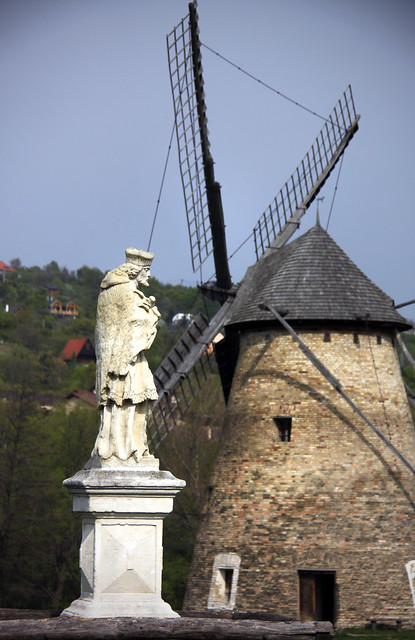 Devotional statue from Csepreg and Windmill from Dusnok