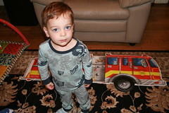 Avi Assembles the Fire Engine Puzzle