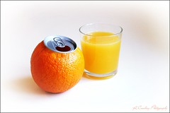 Freshly Squeezed Sunshine (Richard Cowdrey) Tags: summer orange glass sunshine canon eos juice can fresh ringpull squeezed 400d richardcowdrey mygearandme mygearandmepremium
