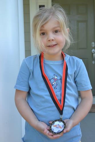 Anna & her soccer medal