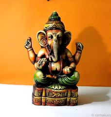 Ganesha 340 (ramakan) Tags: inspiration ganesha natural terracotta group lord days 365 dye handcolored the pillayar blueribbonwinner vinayagar ganapathi goldstaraward theinspirationgroup