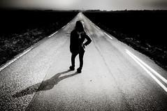 Hit The Road Jack (PetterPhoto) Tags: road bw monochrome nikon noir grain grainy nikkor emilie lista lightroom walktheline 1024 raycharles middleoftheroad preset hittheroadjack d300s borhaug anddontyoucomebacknomore petterphoto matttoynbee