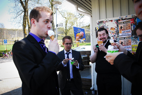men in suits need ice cream