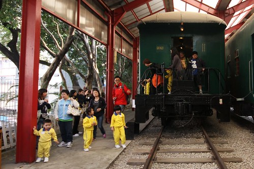 Kindergarten children visit the Hong Kong Railway Museum