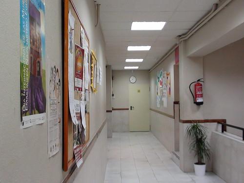 Uno de los pasillos del centro