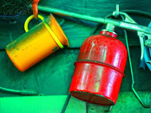 Orange Against Red