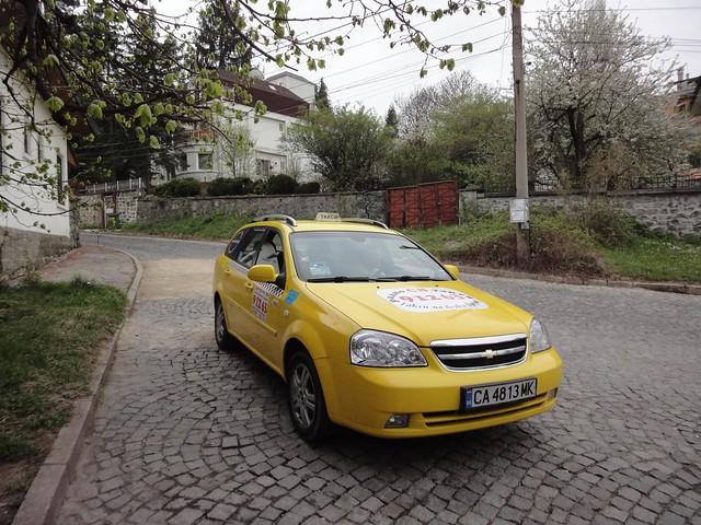 Táxi em Sofia na Bulgária